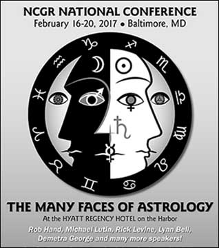 NCGR Conference, titled The Many Faces of Astrology, Feb 16th to 20th 2017