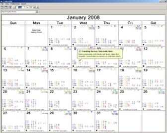 Solar Fire Gold Calendar
